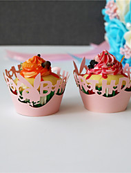 50pcs/lot Lace Paper Wrap Cupcake Wrapper For Kids Birthday Party Baby Shower Decoration Supplies.