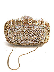 cheap -Women Bags Glasses Metal Evening Bag Crystal Detailing for Wedding Event/Party Spring Fall Gold
