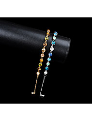 cheap -Women's Chain Bracelet Tennis Bracelet Synthetic Sapphire Rhinestone Adorable Elegant Rhinestone Circle Jewelry For Wedding Evening Party