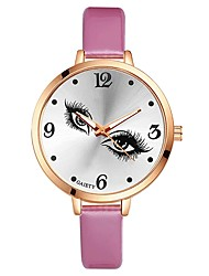 cheap -Women's Wrist watch Chinese Quartz Large Dial PU Band Casual Cool Elegant Black White Blue Red Brown Pink Purple Rose Sky Blue