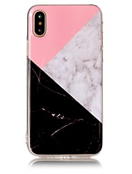 abordables -Para iPhone X iPhone 8 Carcasa Funda IMD Diseños Cubierta Trasera Funda Mármol Suave TPU para Apple iPhone X iPhone 8 Plus iPhone 8