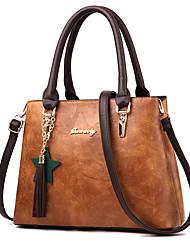 cheap -Women's Bags PU Tote 4 Pieces Purse Set Zipper for Shopping Yellow / Army Green / Wine