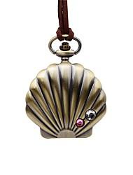 baratos -Mulheres Relógio de Bolso Chinês Quartzo Mostrador Grande Couro Banda Vintage Casual Marrom
