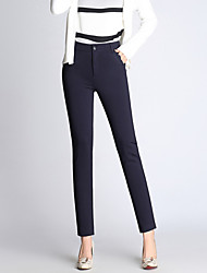 cheap -Women's Chinos Business Pants Solid Cotton Spandex