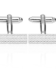 cheap -Cylindrical Silver Cufflinks Brass Check Formal Men's Costume Jewelry