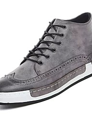 Men's Shoes PU Spring Fall Comfort Sneakers For Casual Gray Black