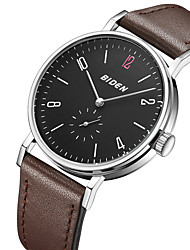 cheap -Men's Fashion Watch Casual Watch Quartz Hot Sale Genuine Leather Band Luxury Casual Cool Black Brown