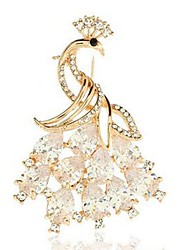 cheap -Women's Brooches Crystal Animals Classic Fashion Crystal Alloy Peacock Gold Jewelry For Daily Formal