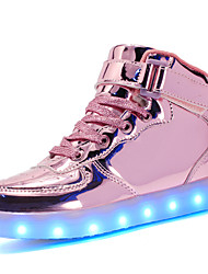 cheap -Women's Shoes Customized Materials Leatherette Winter Fall Comfort Light Up Shoes Sneakers Round Toe Lace-up Hook & Loop LED for Casual