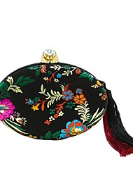 cheap -Women Bags Polyester Evening Bag Embroidery Tassel for Wedding Event/Party All Season Black Red