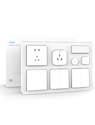 cheap -Xiaomi Aqara Smart Bedroom Kit Air Conditioner Mate  Temperature and Humidity Sensor  Body Sensor  Wall Socket  Wall Switch  2pcs Wireless Switch