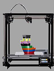 Flsun cube 3d imprimante 260 * 260 * 350mm haute précision auto niveau bricolage imprimante kit avec 3.2 pouce tft écran tactile lit