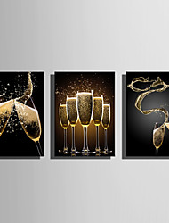 cheap -Stretched Canvas Print Canvas Set Still Life Modern, Three Panels Canvas Horizontal Print Wall Decor Home Decoration