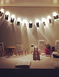 Недорогие -1m 10 светодиодные зажимы шнурок огни батареи рождественские огни вечеринка свадьба домой украшение фея огни аккумулятор