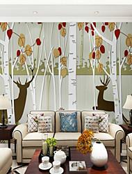 abordables -Árboles y Hojas Art Decó 3D Fondo de pantalla Para el hogar Moderno Clásico Rústico Revestimiento de pared , Lienzos Material adhesiva