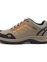 baratos -Mulheres Sapatos Couro Ecológico Inverno Conforto / Forro de peles Tênis Aventura Ponta Redonda Cadarço Cinzento / Marron / Verde