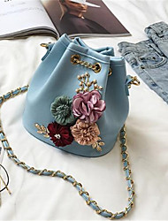 cheap -Women's Bags PU Shoulder Bag Pocket for All Seasons Blue Black Blushing Pink Beige