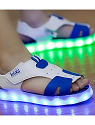 preiswerte -Jungen Schuhe Kunstleder Sommer Komfort Sandalen Für Normal Weiß Blau Rosa