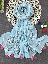Women's Cotton Rectangle Flower Spring, Fall, Winter, Summer