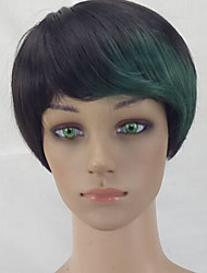 cheap -Synthetic Wig Straight Pixie Cut Green Women's Capless Celebrity Wig Party Wig Natural Wigs Short Synthetic Hair