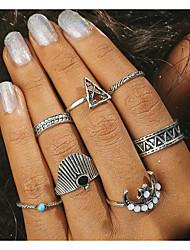 preiswerte -Damen Knöchel-Ring 5 Silber Aleación Geometrische Form Retro Schmuck mit Aussage Alltag Modeschmuck