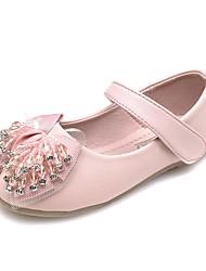 baratos -Para Meninas Sapatos Courino Primavera Solados com Luzes Conforto Rasos Pedrarias Cristais Laço Gliter com Brilho Colchete para Festas &