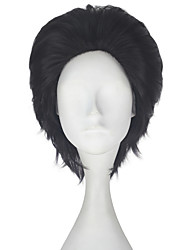 cheap -Men Unisex 33cm Short Straight Hair Synthetic Dark Brown Color Wig Halloween Cosplay Costume Role Play Wigs