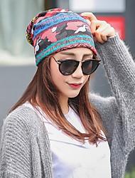 Недорогие -Жен. На каждый день Широкополая шляпа,Весна, осень, зима, лето Хлопок Живопись Стильные Синий Красный