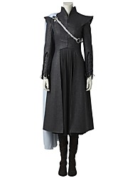 economico -Costumi da supereroi Il Trono di Spade Madre dei Draghi Costumi Cosplay Costume Cosplay da film Grigio e nero Top Gonna Mantello A
