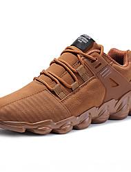 Недорогие -Муж. обувь Материал на заказ клиента Зима Осень Удобная обувь Спортивная обувь для Повседневные на открытом воздухе Черный Серый