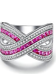 Жен. Классические кольца Обручальное кольцо Цирконий Цирконий Позолота Бижутерия Назначение Свадьба Для вечеринок