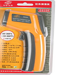 cheap -GS320 Digital InfraRed Thermometer with Laser Sight (-50℃~360℃/-58℉~678℉)