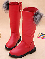 cheap -Girls' Shoes PU Winter Fall Comfort Fashion Boots Boots for Casual Black Red Burgundy