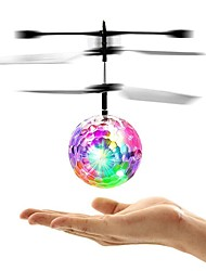 baratos -Helicóptero com CR Mini Magic Flying Ball Sem câmera Pronto a usar Controlo Remoto / Luz de LED / Luz LED Clássico