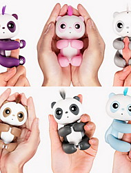 Fidget Toys Finger Puppet Electronic Toys Fingerling Panda Animals Interactive Baby Cute Touch Sensor Smart Touch Kids' Adults' 1 Pieces