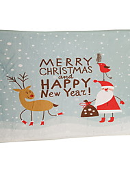 Santa And The Deer Flocking Plastic Foam Mat