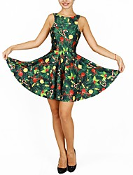 cheap -Christmas Trees Dress Women's Christmas Festival / Holiday Halloween Costumes Green Christmas
