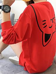 Pull à capuche & Sweatshirt Femme Usage quotidien Imprimé animal Col Arrondi Micro-élastique Polyester Manches Longues Automne