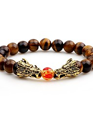 cheap -Men's Strand Bracelet Onyx Asian Cool Agate Circle Jewelry For Evening Party Street