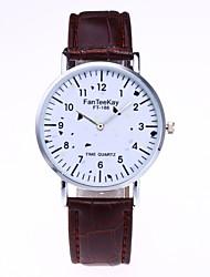 cheap -Men's / Women's Fashion Watch / Wrist Watch Chinese PU Band Black / White / Brown