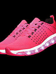 cheap -Women's Shoes Tulle Spring Fall Light Up Shoes Athletic Shoes Running Shoes Round Toe For Athletic Gray Fuchsia Black/Red