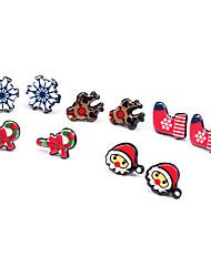 abordables -Mujer Bonito Copo de Nieve Conjunto de joyas Pendientes - Dibujos Rojo Pendientes cortos Para Navidad / Nochevieja