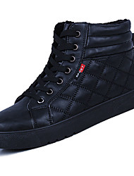 cheap -Men's Shoes PU Spring Fall Comfort Boots For Outdoor Red Black White