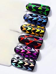 economico -diamante colorato paillettes conchiglia colorata decorazione nail art 6 pezzi / set