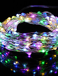 cheap -1PCS HKV® 2M 20LED DC 5V Copper Wire Fairy String Light Wedding Party Decoration String Light 3 x AA Battery (No batteries)
