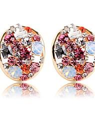 abordables -Femme Clips simple Cristal Alliage Forme de Cercle Bijoux Pour Cérémonie Carnaval