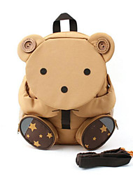 Kids Bags All Season Canvas Backpack Zipper for Casual Blushing Pink Khaki