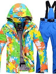 Per uomo Giacca e pantaloni da sci Caldo Ompermeabile Antivento Indossabile Leggero Traspirabilità Sci Cotone