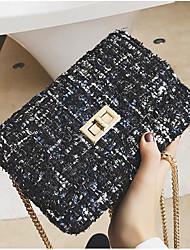 cheap -Women's Bags Polyester Crossbody Bag Pocket Black / Gray