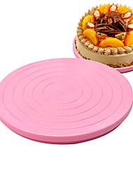 economico -torta fai da te plastica torta stand arredamento giradischi manualmente rotante forma rotonda modello di montaggio strumento
